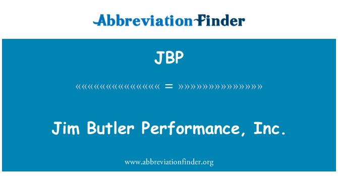 JBP: Jim Butler Performance, Inc.