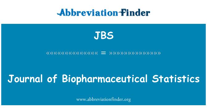 JBS: Diario de estadísticas biofarmacéutica