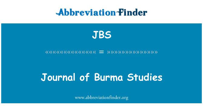JBS: Revista de estudios de Birmania