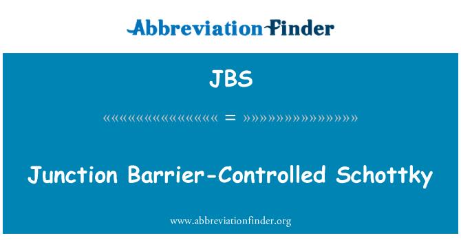 JBS: Cruce controlado por barrera Schottky