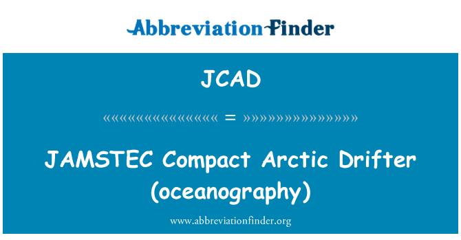 JCAD: JAMSTEC   Compact Arctic Drifter (oceanography)