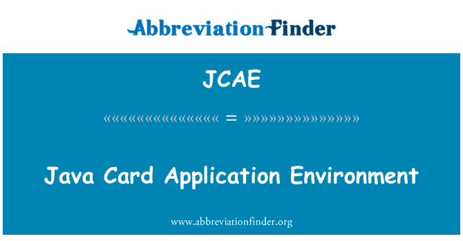 JCAE: Entorno de aplicaciones Java Card