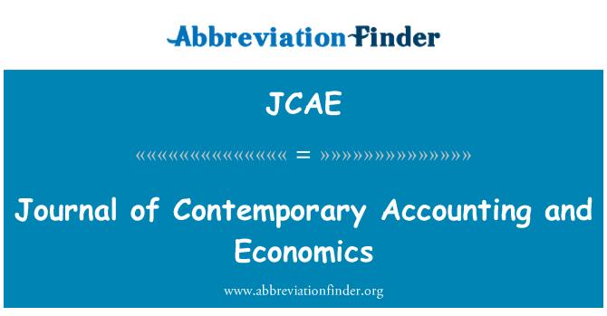 JCAE: Revista de economía y contabilidad contemporánea