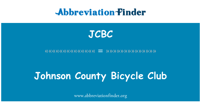 JCBC: Johnson County Bicycle Club