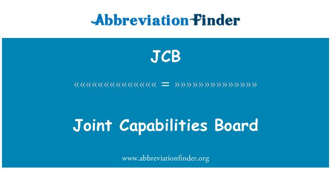 JCB: Joint Capabilities Board