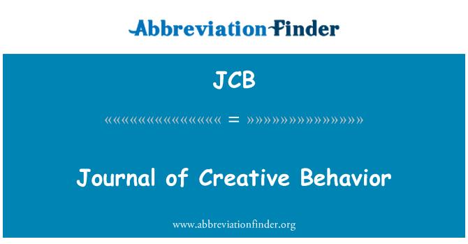 JCB: Journal of Creative Behavior