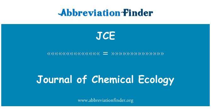 JCE: Journal of Chemical Ecology