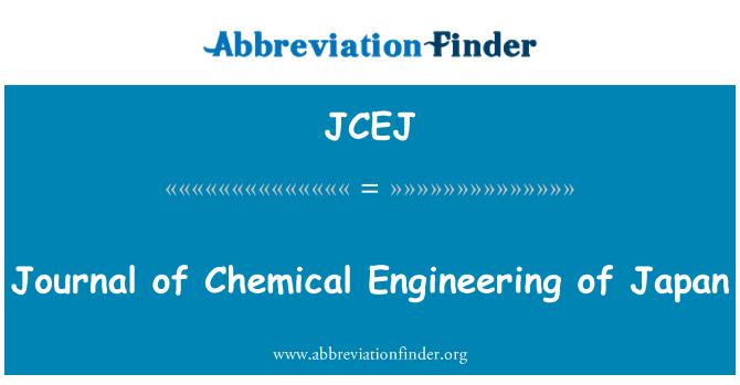 JCEJ: Journal of peirianneg gemegol Japan