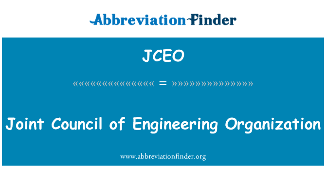 JCEO: Joint Council of Engineering Organization