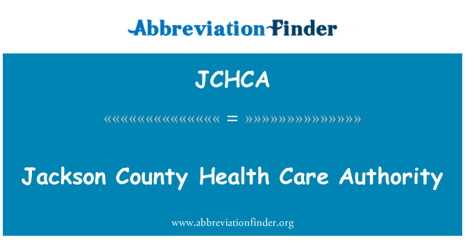 JCHCA: Jackson County Health Care Authority