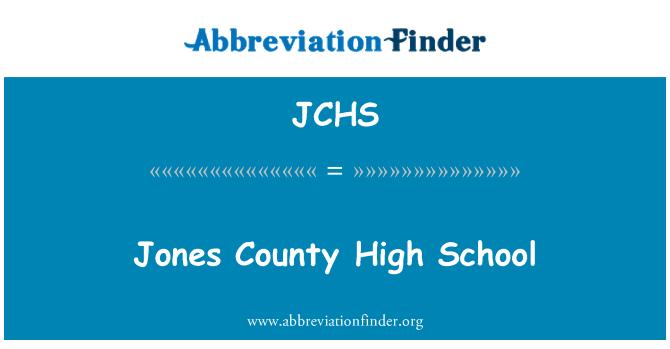 JCHS: Jones maakonnas keskkooli