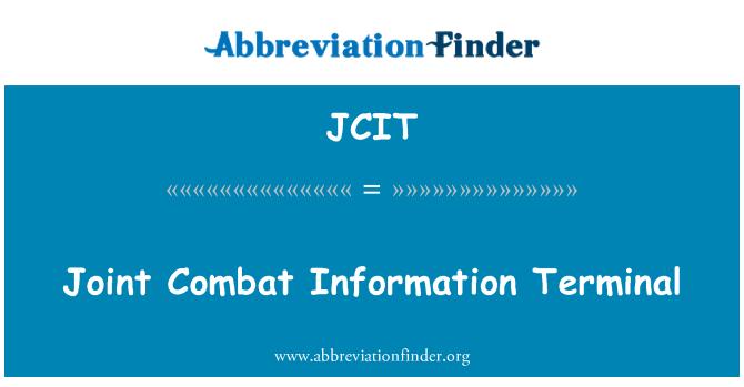 JCIT: Võidelda informatsiooni Terminal