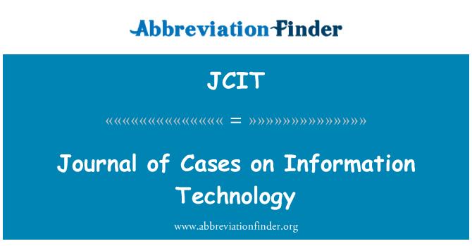 JCIT: Durumlarda günlük bilgi teknolojisi
