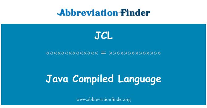 JCL: Java compilado idioma