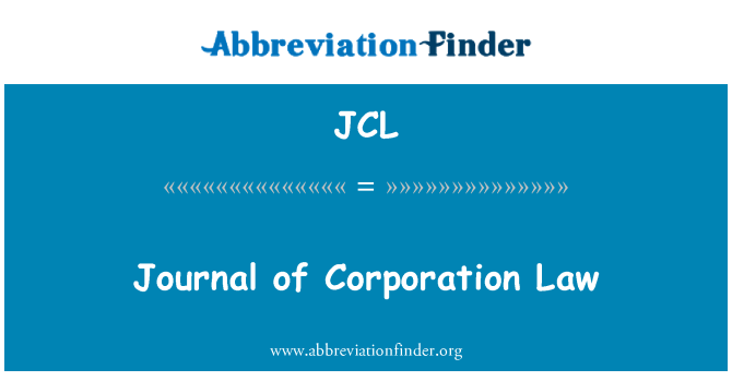 JCL: Journal of Law Corporation
