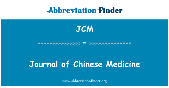 JCM: Journal of Chinese Medicine