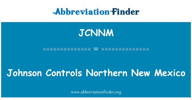 JCNNM: Johnson Controls Northern New Mexico