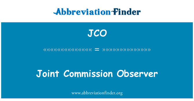 JCO: Joint Commission Observer