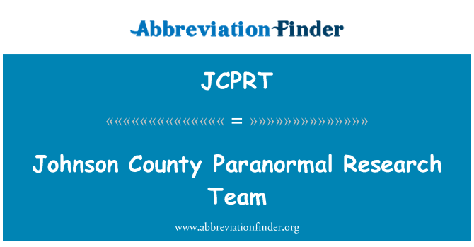 JCPRT: Johnson County Paranormal Research Team
