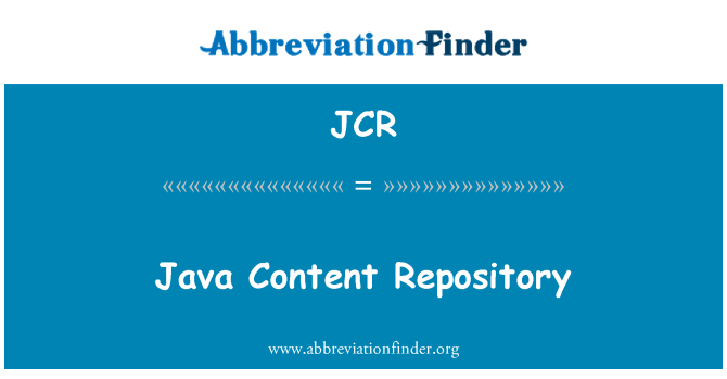 JCR: Java Content Repository