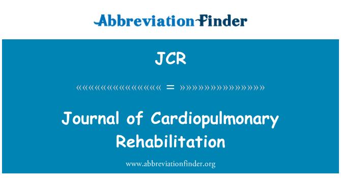 JCR: Journal of Cardiopulmonary Rehabilitation