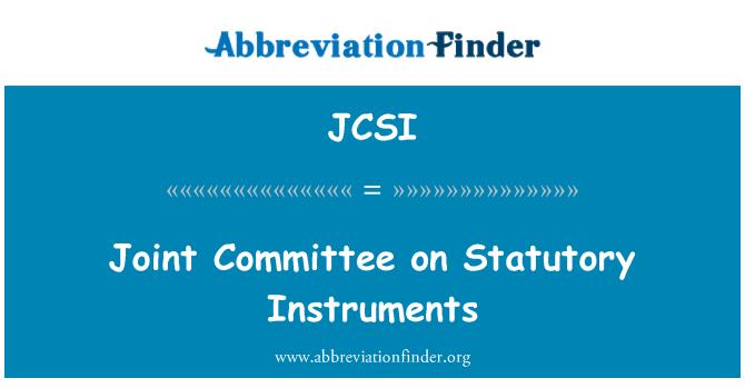 JCSI: Comité conjunto sobre instrumentos legales