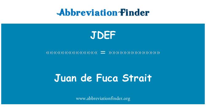 JDEF: Juan de Fuca Strait