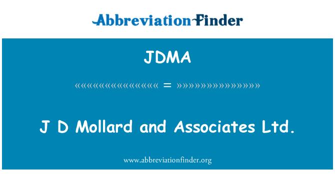 JDMA: J D Mollard and Associates Ltd.