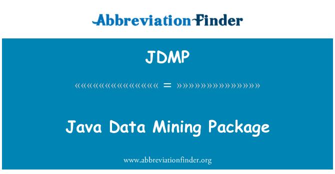 JDMP: Java 数据挖掘包