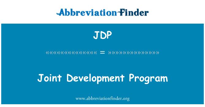 JDP: Joint Development Program