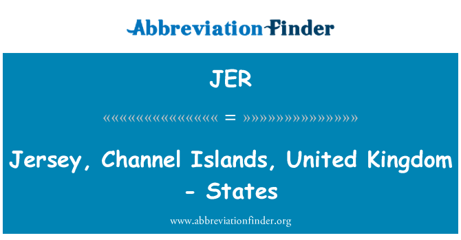 JER: Jersey, Channel Islands, United Kingdom - States