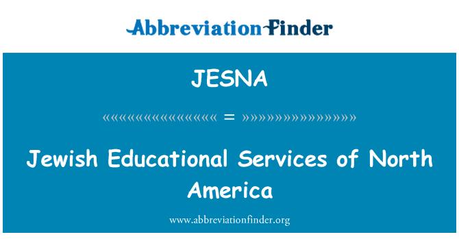 JESNA: Servicios educativos judíos de América del norte