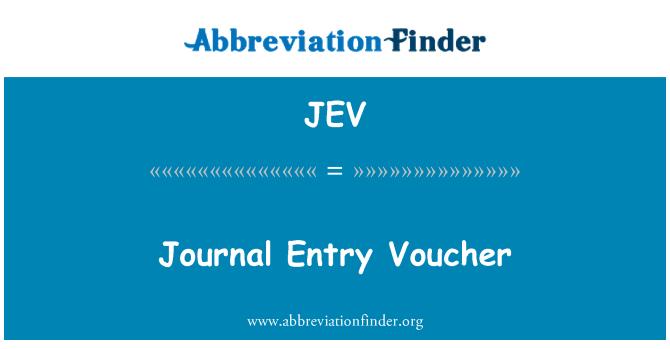 JEV: Journal Entry Voucher
