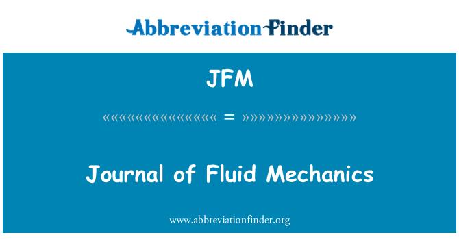 JFM: Journal of Fluid Mechanics