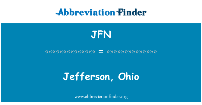 JFN: Jefferson, Ohio