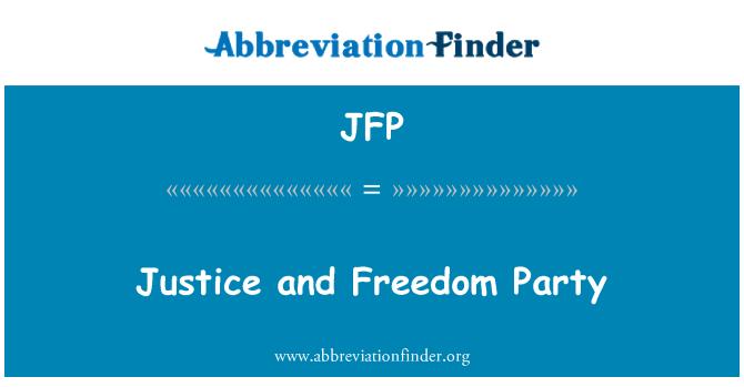 JFP: Partido libertad y justicia