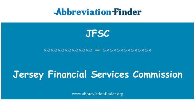 JFSC: Jersey Financial Services Commission
