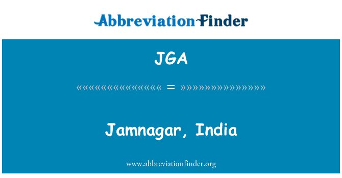 JGA: Jamnagar, India
