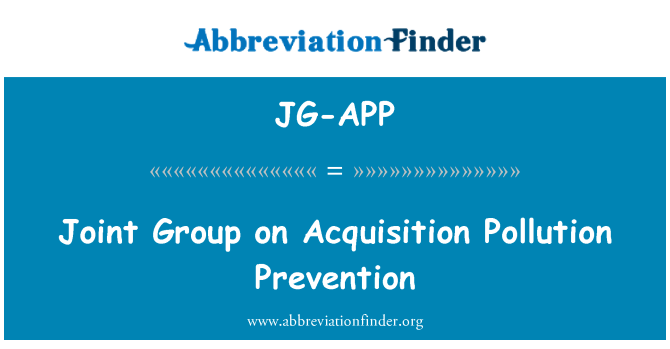 JG-APP: Joint Group on Acquisition Pollution Prevention
