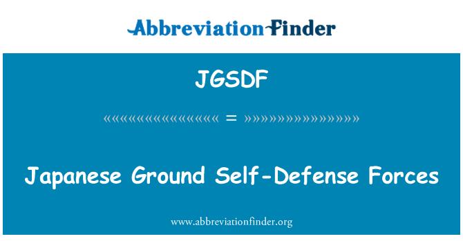 JGSDF: Japonská pěchota sebeobrany