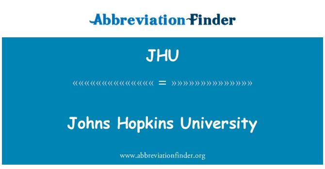 JHU: Johns Hopkins University