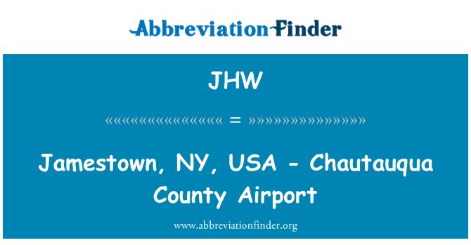 JHW: Jamestown, NY, USA - Chautauqua County Airport