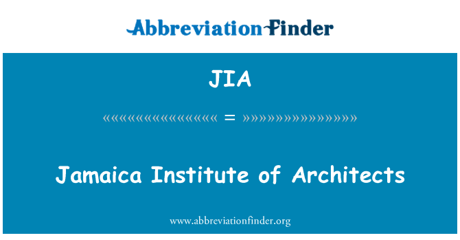 JIA: Jamaica Institute of Architects