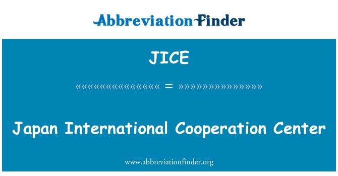 JICE: Japan međunarodne suradnje centra