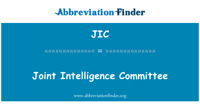 JIC: Joint Intelligence Committee