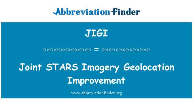 JIGI: Joint STARS Imagery Geolocation Improvement