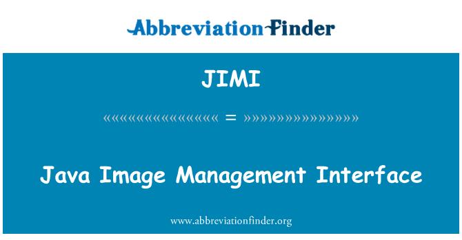 JIMI: Interfaz de administración de imagen Java
