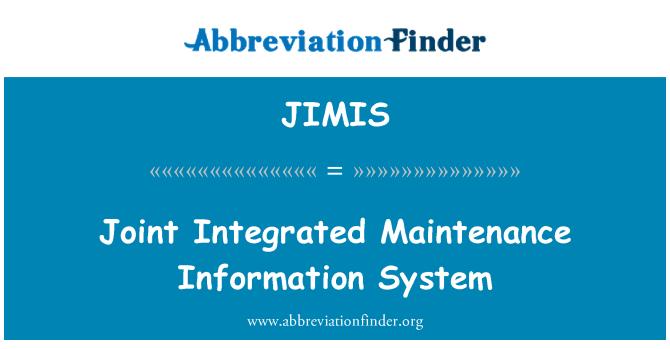 JIMIS: Zajedničkog integriranog održavanja informacijskog sustava