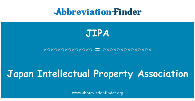 JIPA: Japonya fikri mülkiyet Derneği
