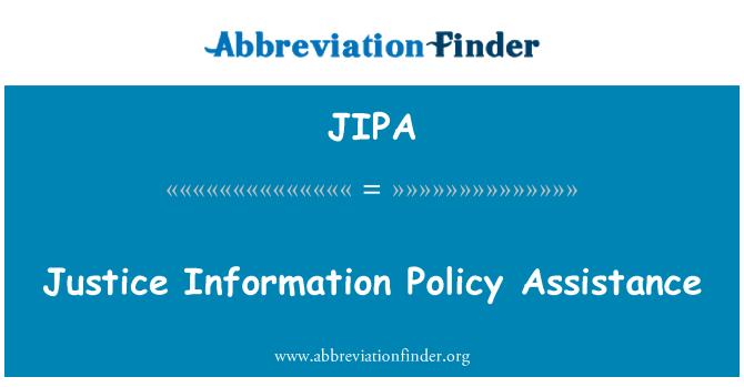 JIPA: Adalet bilgi İlkesi Yardımı